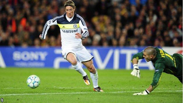 2012 年歐冠盃四強車路士擊敗巴塞羅拿殺入決賽再奪冠而回